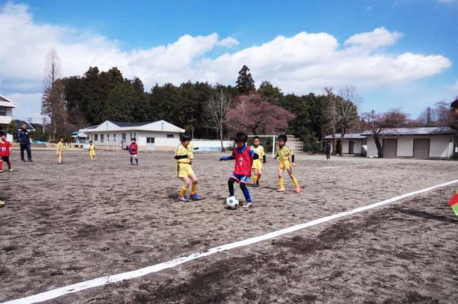 地元のチームとの練習ゲーム2