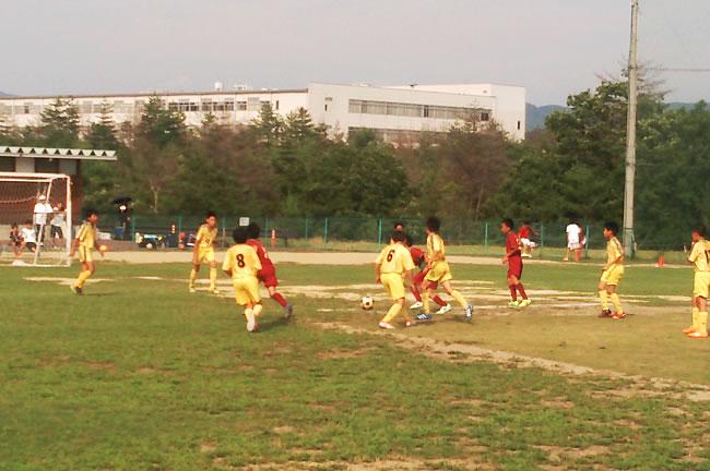 大会前日のトレーニングマッチ 対フォルミーガ(大阪)
