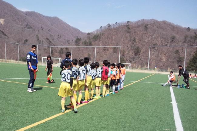 地元チームとのトレーニングマッチ 対KSC