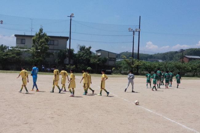 予選リーグ初戦は滋賀の亀山SSS 強かったが何とか0-0で引き分けた