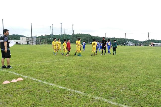 予選グループリーグの初戦 対四日市トレセン